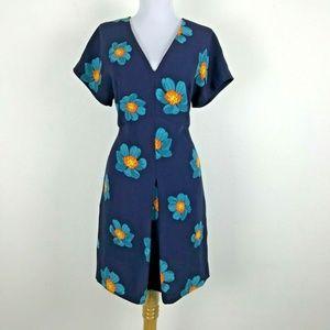 Floral Drop Sleeve Mini Dress